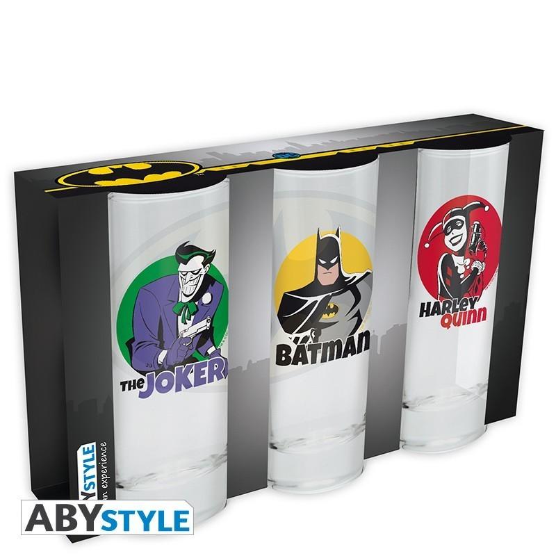 DC Comics- Set de 3 verres Batman
