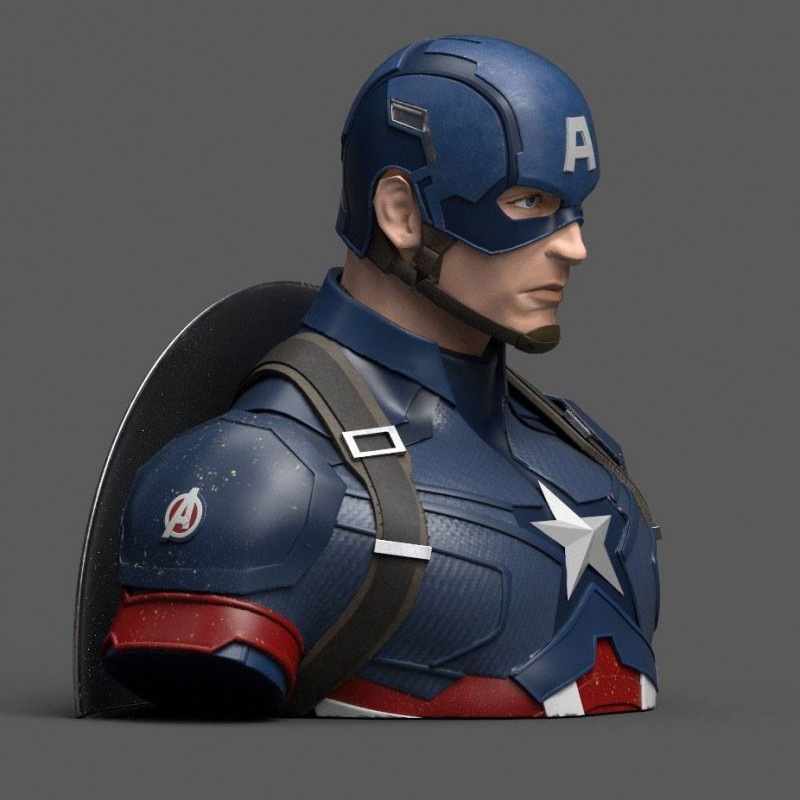 Captain America buste / tirelire 20 cm