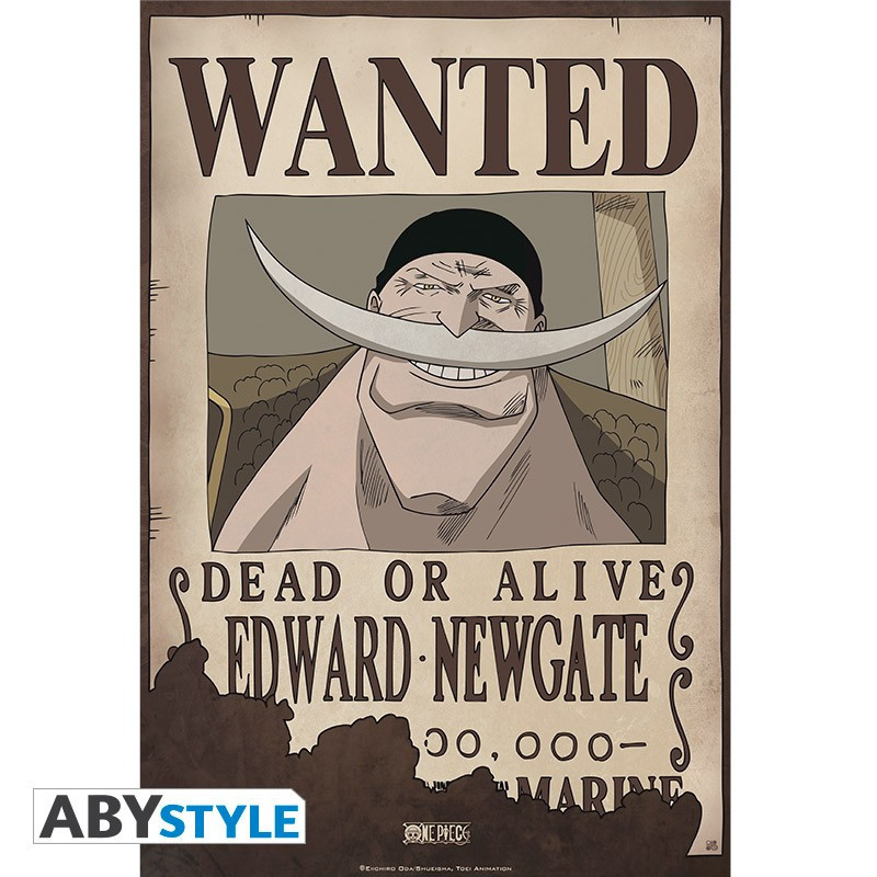 One Piece Poster Wanted Edward...