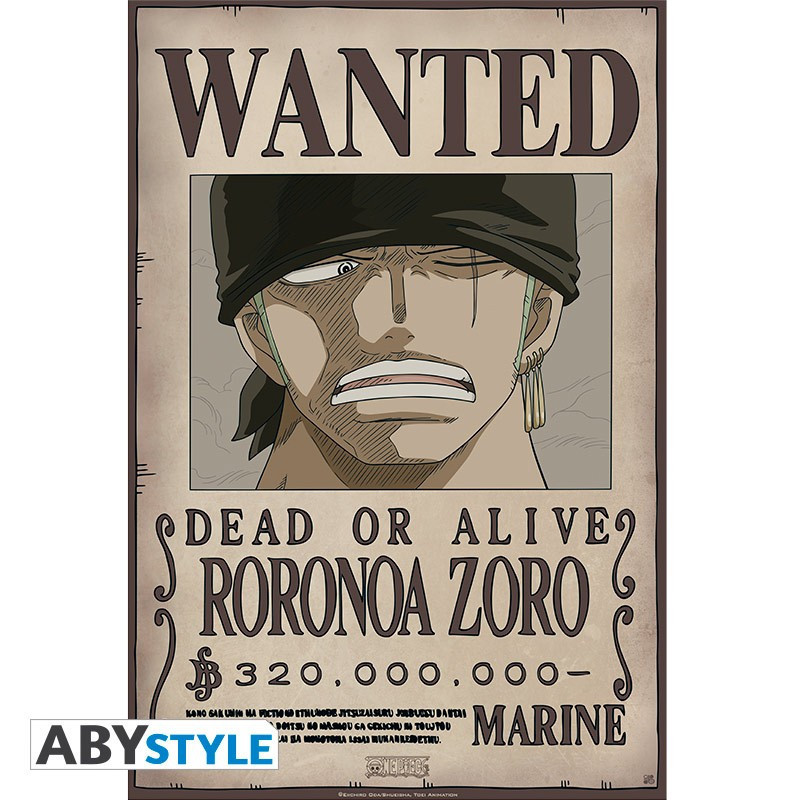 One Piece Poster Wanted Zoro New (52x35)
