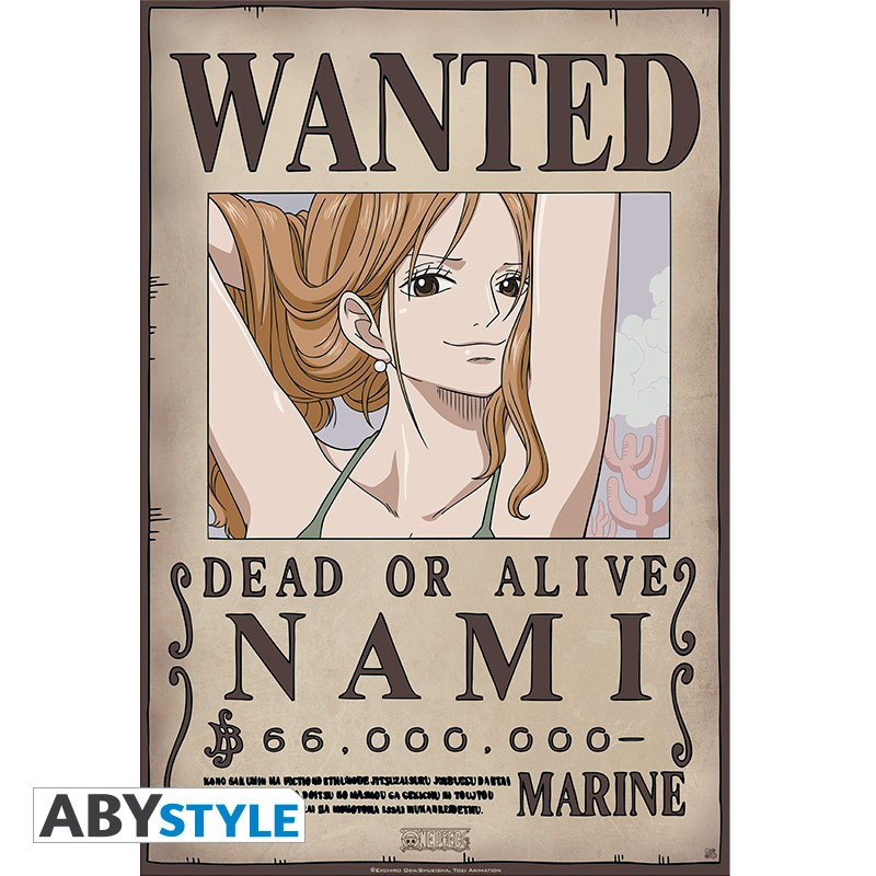 One Piece Poster Wanted Nami New (52x35)