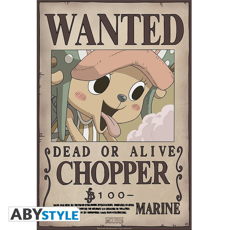 One Piece Poster Wanted Chopper New...