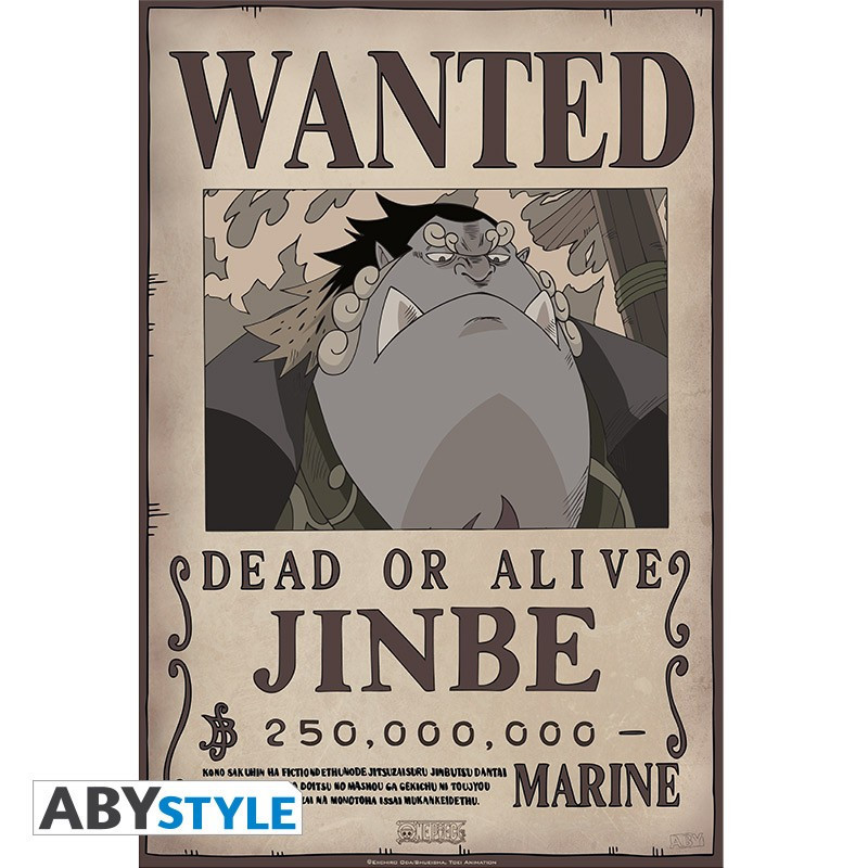 One Piece Poster Wanted Jinbe (52x35)