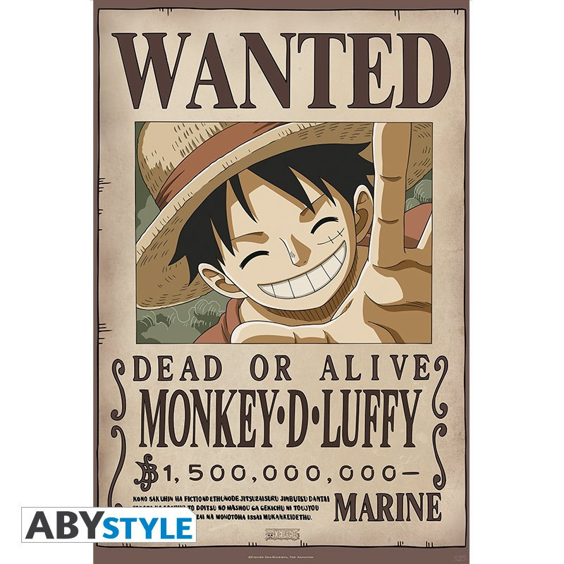 One Piece Poster Wanted Luffy New...