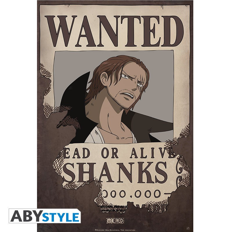 One Piece - Poster Wanted Shanks (52x35)
